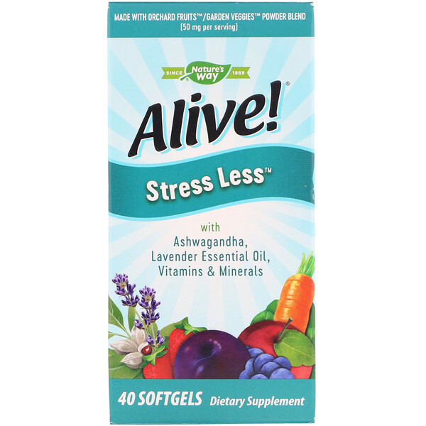 Alive! Stress Less, 40 Softgels