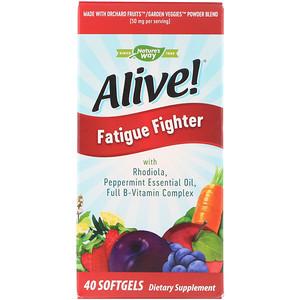 Натурес Вэй, Alive!, Fatigue Fighter, 40 Softgels отзывы