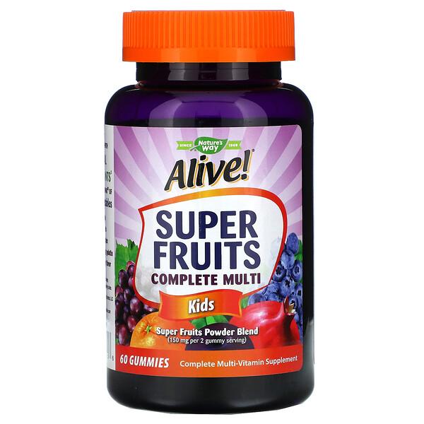 Nature's Way, 復活!超級水果多面複合維生素,兒童,石榴櫻桃味,60 粒軟糖 (Discontinued Item)