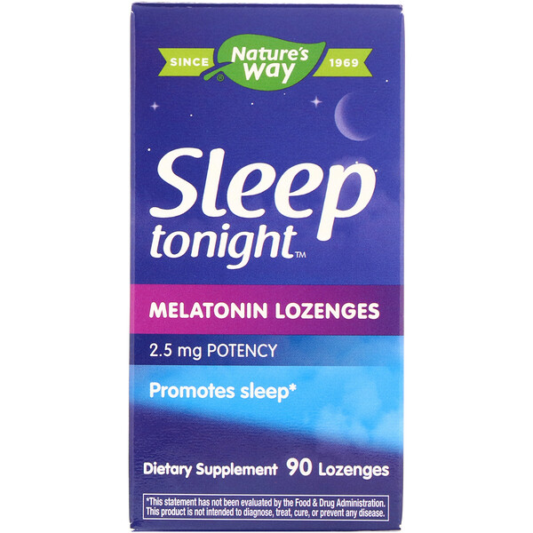 Sleep Tonight, Melatonin Lozenges, 2.5 mg, 90 Lozenges