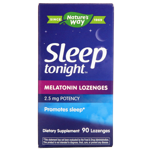 Nature's Way, Sleep Tonight, Melatonin Lozenges, 2.5 mg, 90 Lozenges (Discontinued Item)