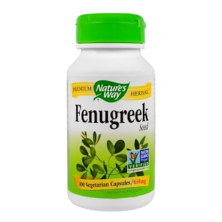 Nature's Way, Fenugreek Seed, 610 mg, 100 Veggie Caps
