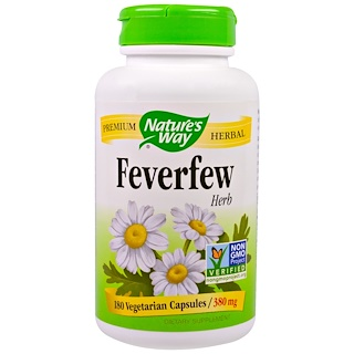 Nature's Way, Feverfew Herb, 380 mg, 180 Veggie Caps