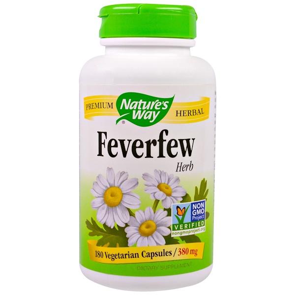 Nature's Way, Feverfew Herb, 380 mg, 180 Veggie Caps