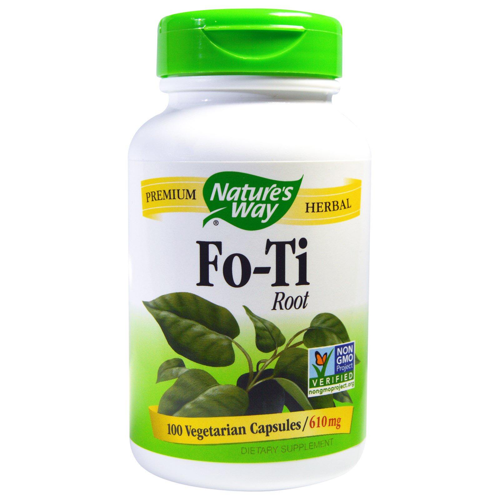 Nature's Way, Корень Fo-Ti, 610 мг, 100 растительных капсул
