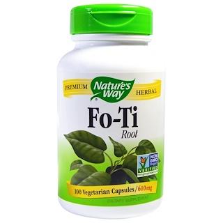 Nature's Way, 호티(Fo-Ti) 뿌리, 610 mg, 100 베지캡