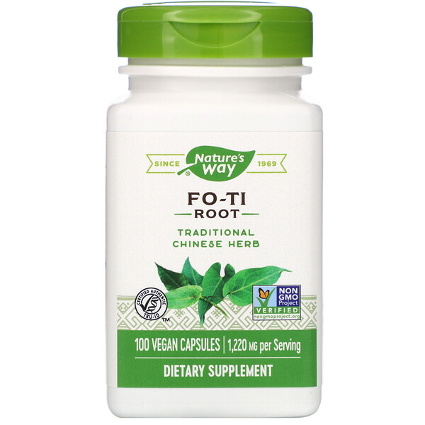 Nature's Way, Fo-Ti Root, 1,220 mg, 100 Vegan Capsules