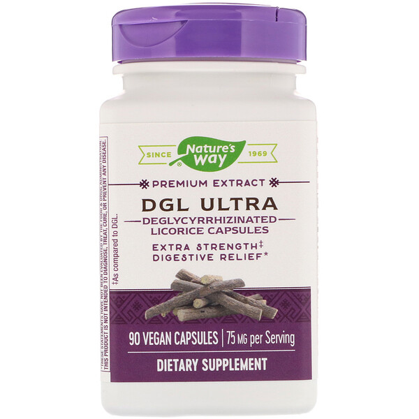 Nature's Way, DGL Ultra, 75 mg, 90 Vegan Capsules