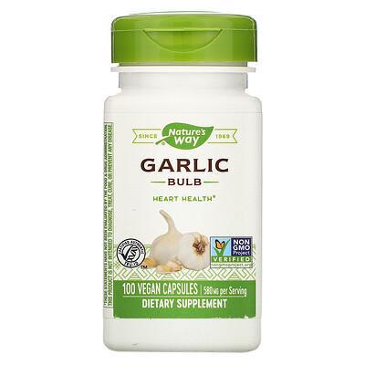 Garlic Bulb, 580 mg, 100 Vegan Capsules gtf chromium 200 mcg 100 vegan capsules
