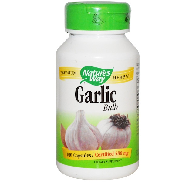 Nature's Way, Garlic Bulb, 580 mg, 100 Capsules