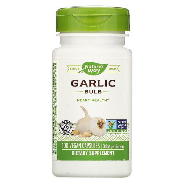 Garlic Bulb, 580 mg, 100 Vegan Capsules