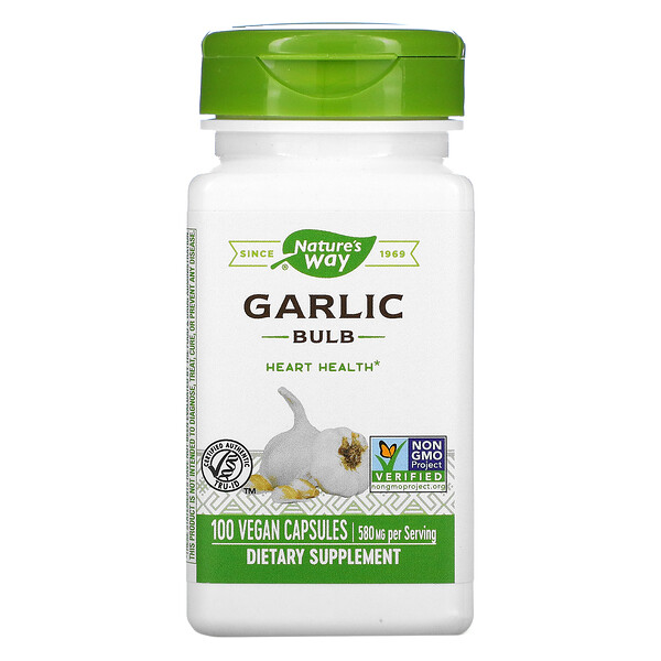 Garlic Bulb, 580 mg, 100 Vegan Capsules