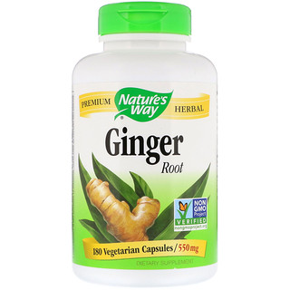Nature's Way, Ginger Root, 550 mg, 180 Vegetarian Capsules