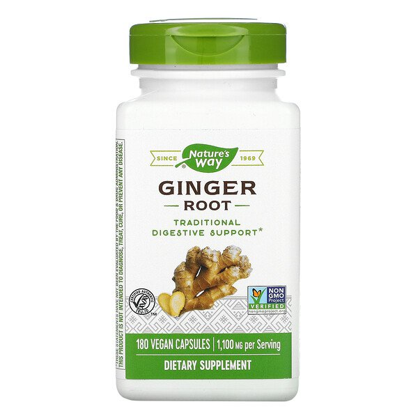 Ginger Root, 1,100 mg, 180 Vegan Capsules