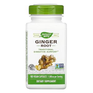 Натурес Вэй, Ginger Root, 1,100 mg, 180 Vegan Capsules отзывы покупателей