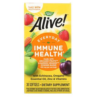 Nature's Way, Alive! добавка для поддержки здоровья иммунной системы, 30мягких таблеток