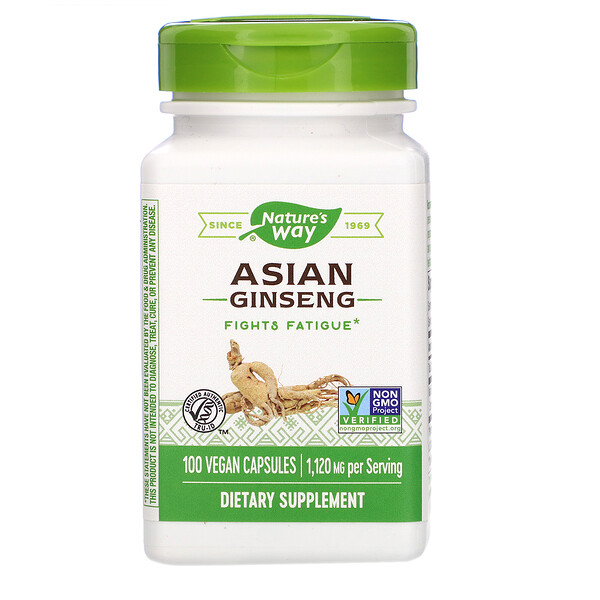 Nature's Way, Asian Ginseng, 560 mg, 100 Veg. Capsules