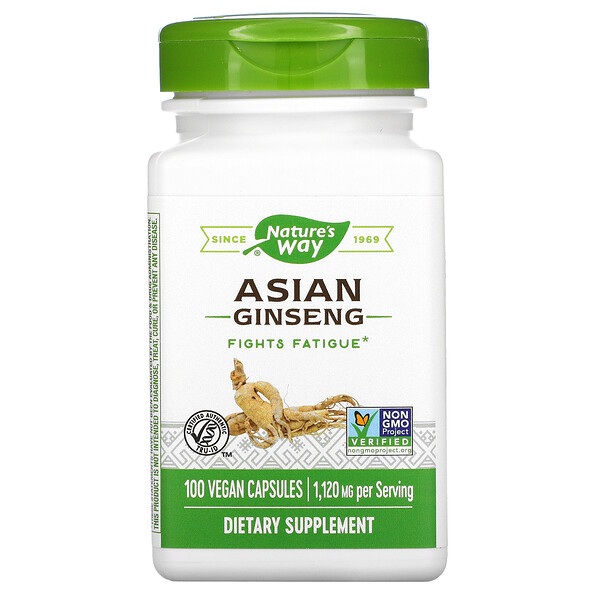 Nature's Way, Asian Ginseng, 1,120 mg, 100 Vegan Capsules