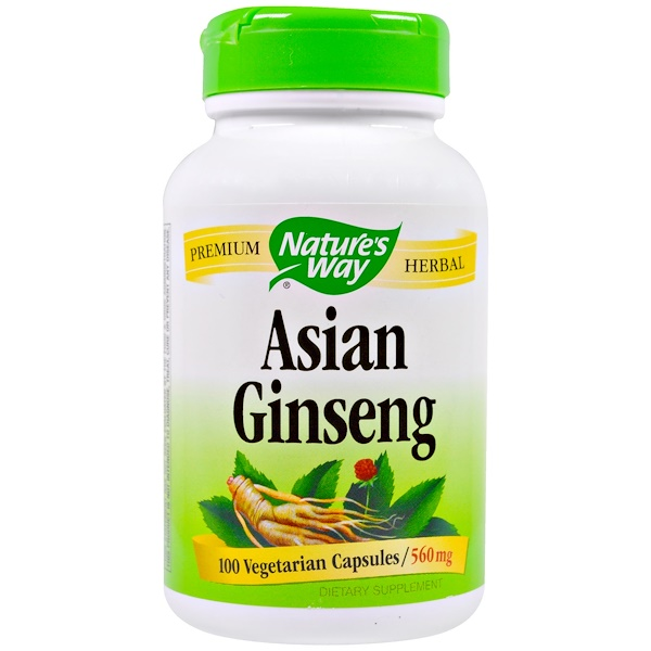 Nature's Way, Asian Ginseng, 560 mg, 100 Veggie Caps