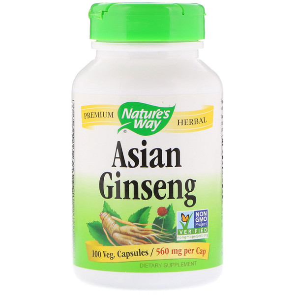 Asian Ginseng, 560 mg, 100 Veg. Capsules