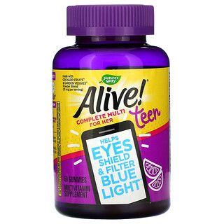 Nature's Way, Alive! Teen, Complete Multi for Her, 50 Gummies
