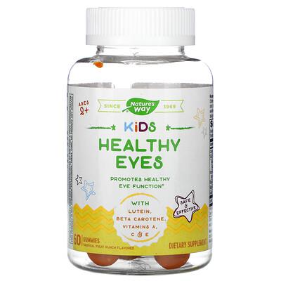 Купить Nature's Way Kid's, Healthy Eyes, Ages 2+, Fruit Punch, 60 Gummies