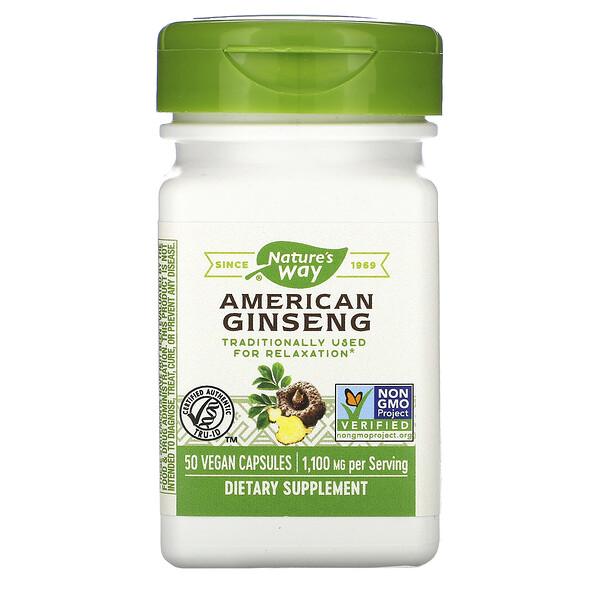 American Ginseng, 1,100 mg, 50 Vegan Capsules