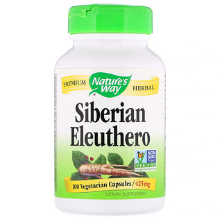Nature's Way, Siberian Eleuthero, 425 mg, 100 Vegetarian Capsules
