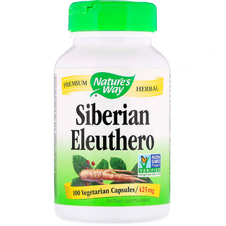 Nature's Way, Siberian Eleuthero, 425 mg, 100 Vegetarian Capsules