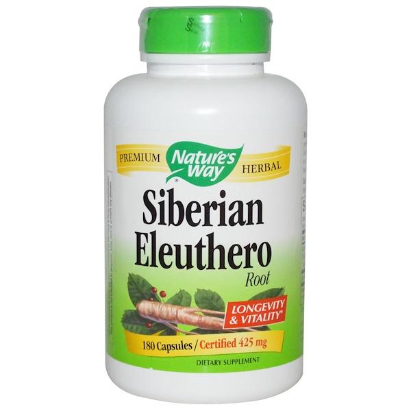 Nature's Way, Siberian Eleuthero, Root, 425 mg, 180 Capsules