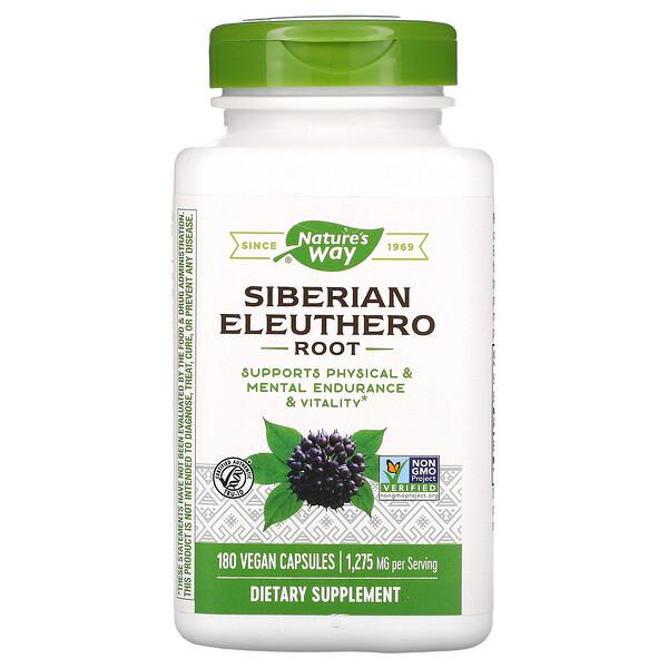 Siberian Eleuthero, Root, 1,275 mg, 180 Vegan Capsules