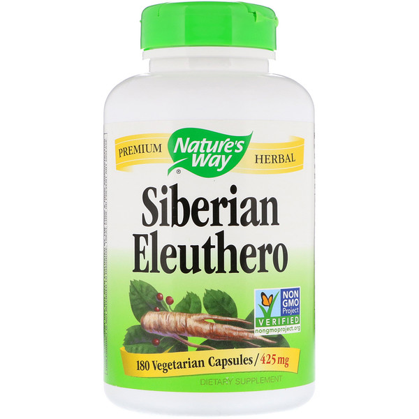 Nature's Way, Siberian Eleuthero, 425 mg, 180 Vegetarian Capsules
