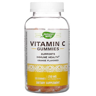 Купить Nature's Way Vitamin C Gummies, Orange, 250 mg, 120 Gummies