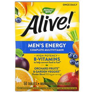 Nature's Way, Alive!, Men's Energy Complete Multivitamin, 50 Tablets