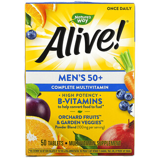 Nature's Way, Alive! Men's 50+ Complete Multivitamin, 50 Tablets