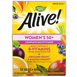 Nature's Way, Alive! Women's 50+ Complete Multivitamin, 50 Tablets