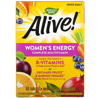 Nature's Way, Alive! Women's Energy Complete Multivitamin, 50 Tablets
