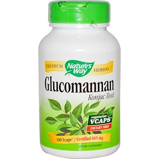 Nature's Way, Glucomannan Konjac Root, 665 mg, 100 Veggie Caps