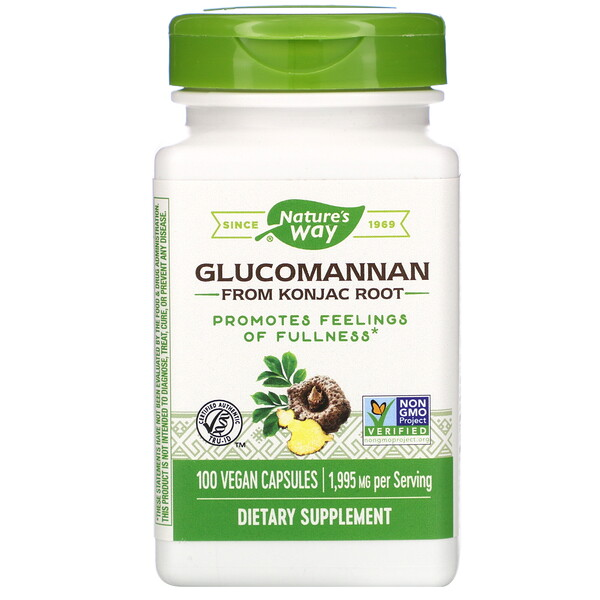 Glucomannan from Konjac Root, 1,995 mg, 100 Vegan Capsules