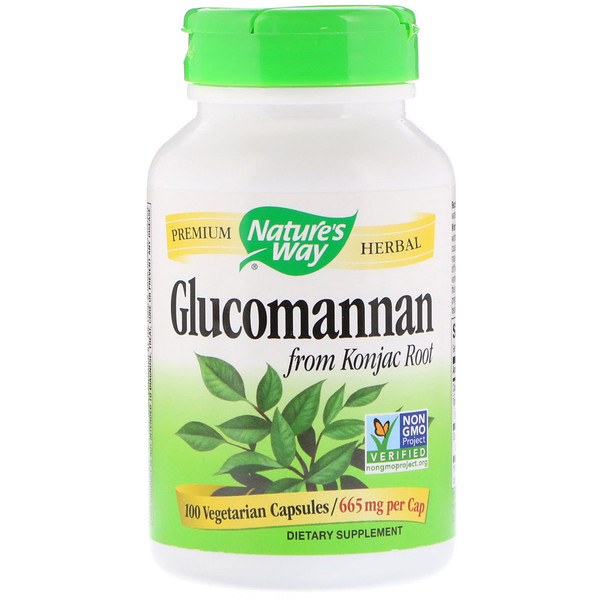 Nature's Way, Glucomannan from Konjac Root, 665 mg, 100 Vegetarian Capsules