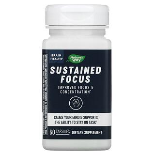 Nature's Way, Brain Health, Sustained Focus, 60 Capsules