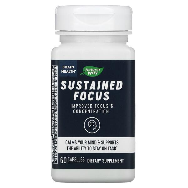 Brain Health, Sustained Focus, 60 Capsules