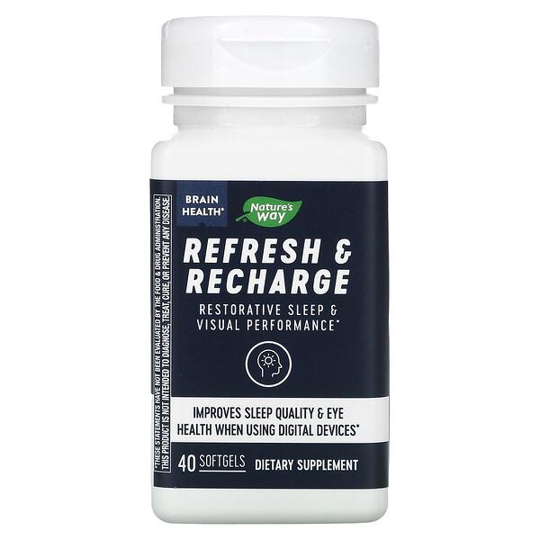 Brain Health, Refresh & Recharge, 40 Softgels