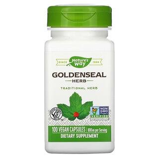 Nature's Way, трава желтокорня, 400 мг, 100веганских капсул