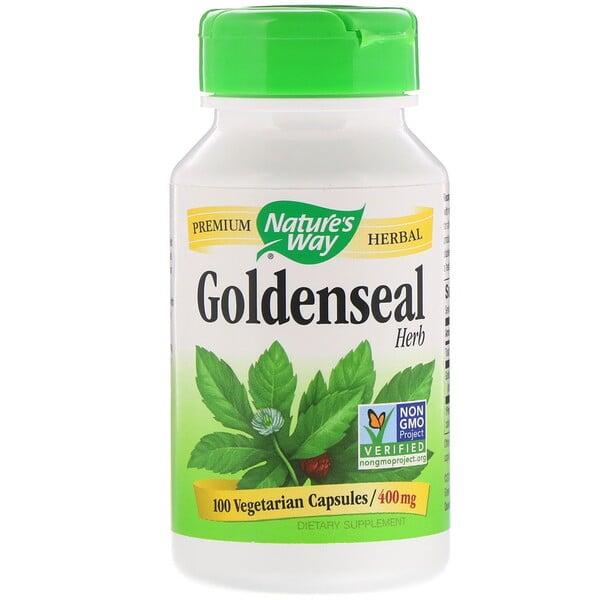 Nature's Way, Goldenseal Herb, 400 mg, 100 Vegetarian Capsules