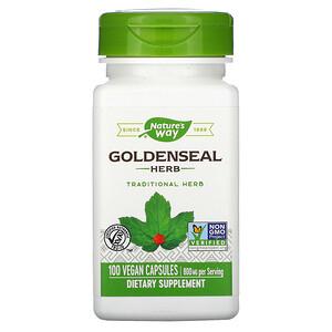 Натурес Вэй, Goldenseal Herb, 800 mg, 100 Vegan Capsules отзывы покупателей