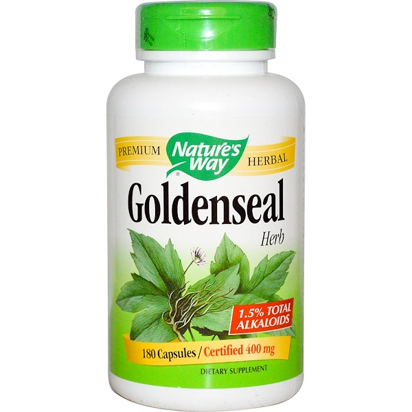 Nature's Way, Goldenseal, Herb, 400 mg, 180 Capsules