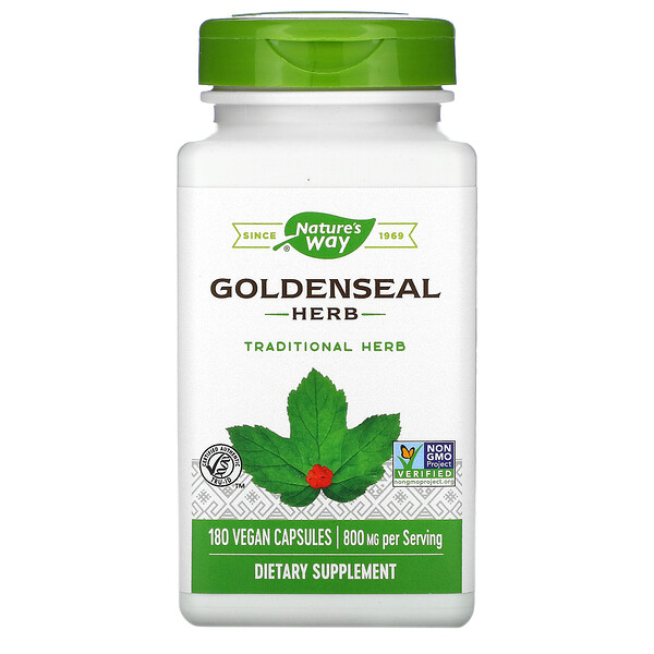 Goldenseal, 800 mg, 180 Vegan Capsules