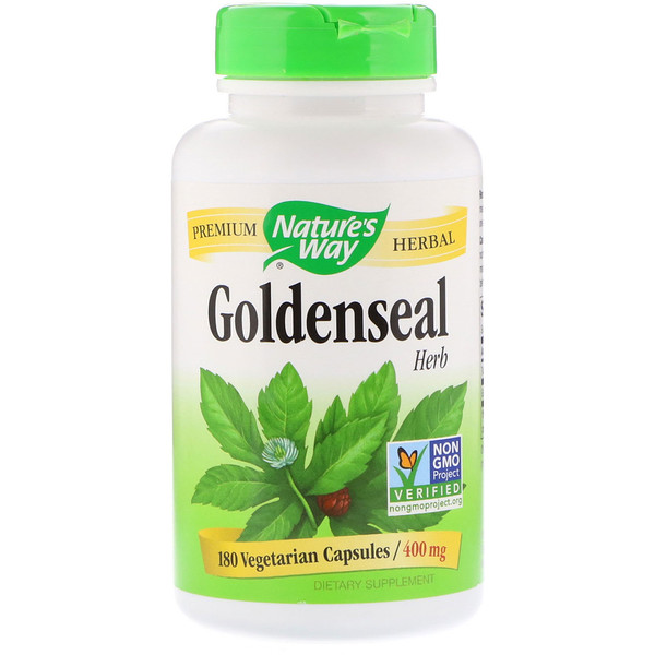 Nature's Way, Goldenseal, Herb, 400 mg, 180 Vegetarian Capsules
