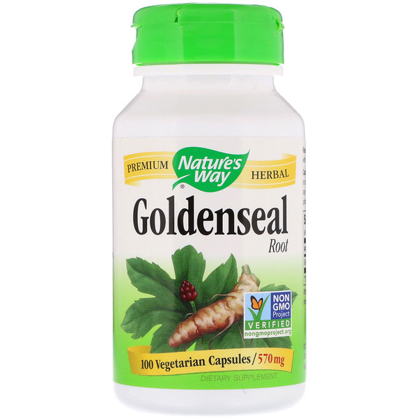 Nature's Way, Goldenseal Root, 570 mg, 100 Vegetarian Capsules